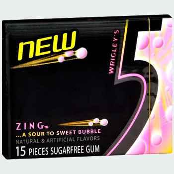 Wrigley's 5 Gum Zing (Жвачка ригли файв цинк)