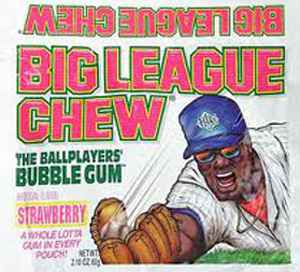Big League Chew Gum Strawberry (Биг Лиг клубника)