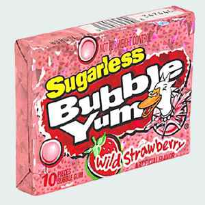 Жвачка из США Bubble Yum Original Sugarless Wild Strawberry