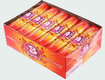 Самая большая жвачка Bubblicious Bursts Mango Peach (Бубблисиоус Взрыв манго и персик)