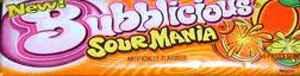на жевательную резинку Bubblicious Original Sour Citrus (Бубблисиоус Оригинал кислый цитрус)