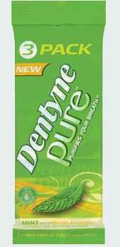 Новая жвачка Dentyne Pure Gum Mint Melon (Дентин чистое дыхание мята и арбуз)