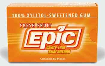 с ксилитом Epic Fresh Fruit Gum with Xylitol (Эпик освежающие фрукты)