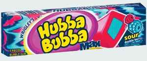 Hubba Bubba Max gum Sour Double Berry (Хубба Бубба Макс кислая двойная ягода)