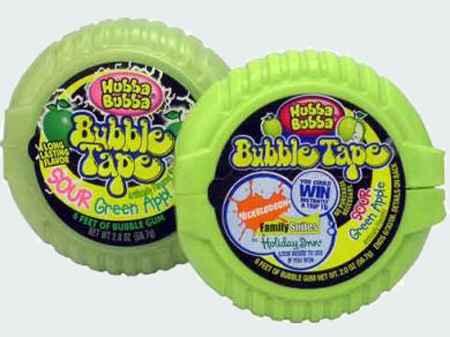 wrigley Hubba Bubba Bubble Tape Awesome Sour Green Apple (Хубба Бубба лента кислое зеленое яблоко)