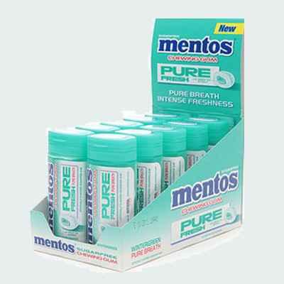 Жвачка Mentos Pure Fresh Winter Green (чистота и свежесть зимняя зелень)