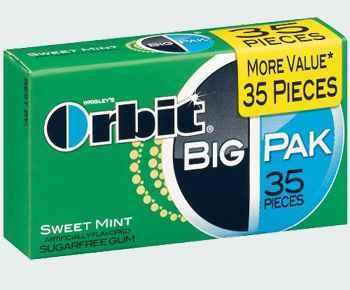 Orbit BIG PAK Sweet mint (сладкая мята большая пачка)