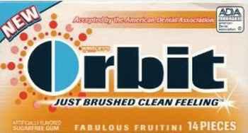 Где Orbit Fabulous Fruitini (невероятные фрукты)