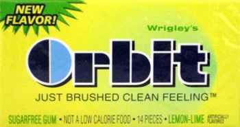 Жвачка со звездочками Orbit Lemon Lime (лемон и лайм)