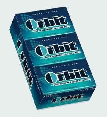 Жвачка Orbit Peppermint (перечная мята)