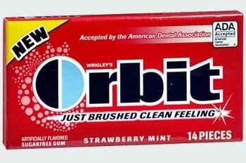 Продам Orbit Strawberry Mint (клубника и мята)