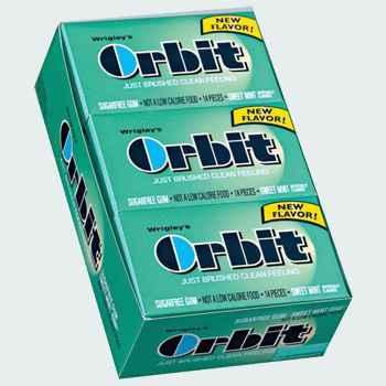 Жвачка со звездочками Orbit Sweet Mint (сладкая мята)
