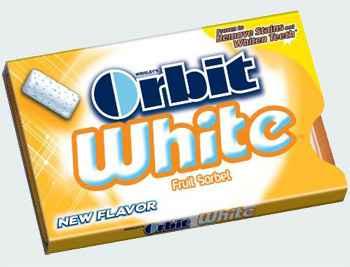 Orbit White Fruit Sorbet (отбеливание фруктовый сорбет)