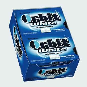 Жвачка Orbit White Peppermint  (отбеливание перечная мята)
