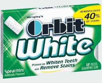 Жвачка виды Orbit White Spearmint (отбеливание мята)