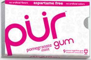 Самая большая жвачка Pur gum pomegranate mint (Пур гранат и мята)