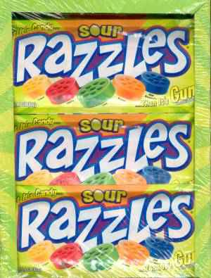 Razzles Sour Gum (Раззлс кислый)