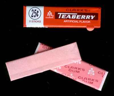 Жевательная резинка купить Clark's Teaberry Chewing Gum (Кларкс Тиберри)
