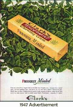 Жевательная резинка цена Clark's Tendermint Chewing Gum (Кларкс тендерминт)