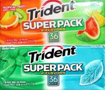 Стоимость жвачки Trident Superpack (Тридент супер упаковка)