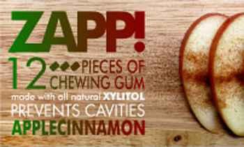 Zapp Chewing gum Apple Cinnamon (Запп яблоко и корица)