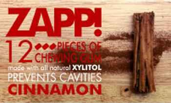 Zapp Chewing gum Cinnamon (Запп корица)
