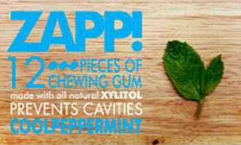 Новая жвачка Zapp Chewing gum Cool Peppermint (Запп свежая перечная мята)