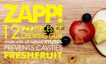Самая большая жвачка Zapp Chewing gum Fresh fruit (Запп освежающие фрукты)