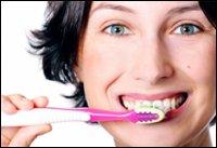 очистить зубы