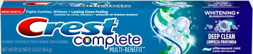 Зубная паста от зубного камня Crest Complete Multi-Benefit Whitening Plus Deep Clean Toothpaste (Крест мульти польза отбеливание плюс глубокая чистка)