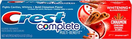 Самая лучшая зубная паста Crest Complete Multi-Benefit Whitening + Cinnamon Expressions (Крест мульти польза отбеливание корица)