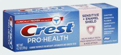 Зубная паста для эмали  Crest Pro-Health Sensitive + Enamel Shield Toothpaste (Крест здоровье про лечение чувствительности+защита эмали)