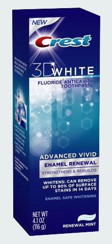 Зубная паста Crest 3D White New (Крест 3Д Новое отбеливание)