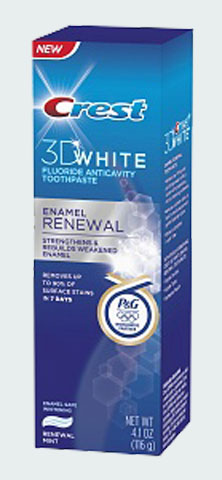 Crest 3D White Enamel Renewal Fluoride Anticavity Toothpaste