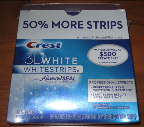 « title=»Crest 3D White Professional Effects Whitestrips + 50% Extra Pack