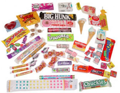 Старая жвачка 60s Candy Box (Набор ретро жвачек)