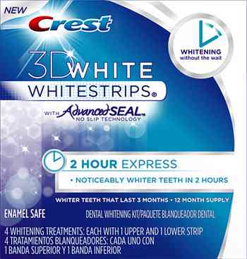 « title=»Crest 3D White 2-Hour Express Whitestrips