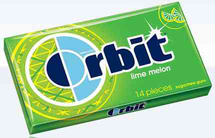 Жвачка Orbit Lime Melon (лайм дыня)