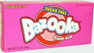 Bazooka joe bubble gum sugar free
