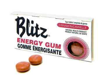 Кофейная жвачка Blitz Cinnamon Energy Chewing Gum (Блиц жвачка-энергетик с корицей)