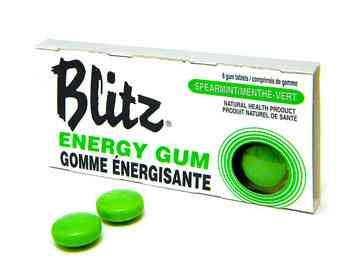 Названия жевательных резинок Blitz Spearmint Energy Chewing Gum (Блиц мята)