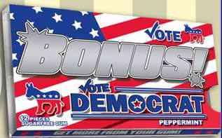 Упаковка  Bonus Political Democrat Gum (Бонус Политическая Жвачка Демократ)