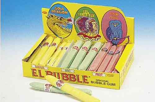 Bubble Gum Cigars Banana-Mint-Fruit