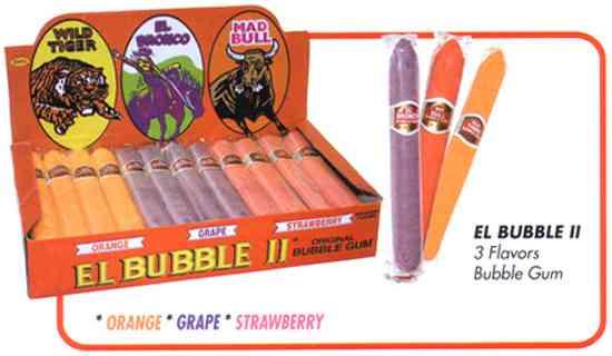 Bubble Gum Cigars Orange-Grape-Strawberry
