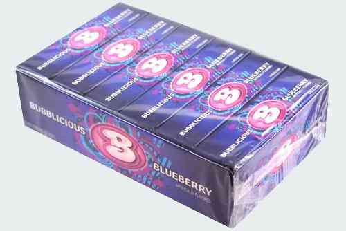 Жвачки Bubblicious Blueberry Bubble Gum  (Бубблисиоус черника бабл гам)