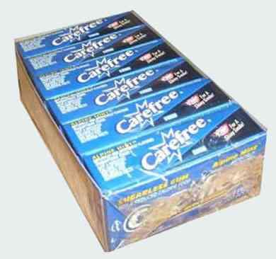 Жвачки 90 х Carefree Apline Mint Sugarfree Gum