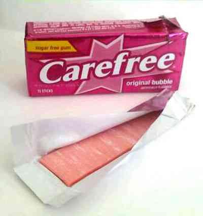 Розовая жвачка Carefree Original Bubble Gum (Кэрфри оригинальный бабл гам)