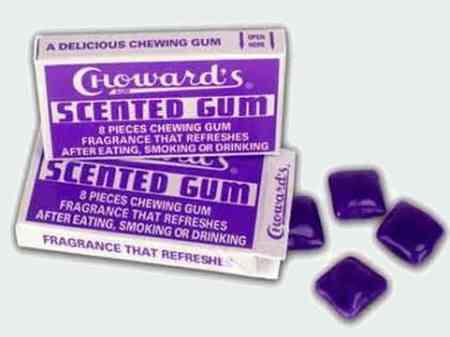 Старые жвачки  Choward's Scented Gum (Душистая жвачка Човарда)