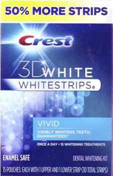 Полоски для отбеливания зубов Crest 3D White Whitestrips Vivid  Enamel Safe +50% Extra Pack