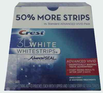 « title=»Crest 3D White Advanced Vivid Whitestrips +50% Extra Pack
